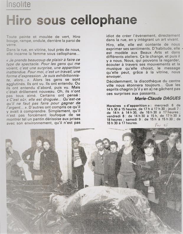 1985-02 - La femme sous cellophane (DL)
